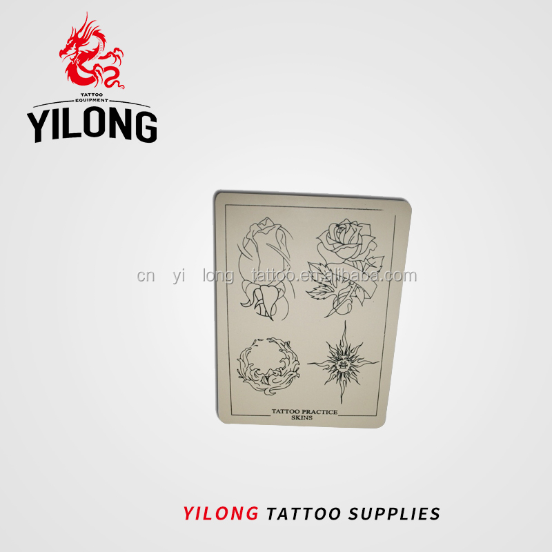 Yilong Tattoo Silicone Permanent Makeup Tattoo Practice SkinPractice skin,flower image-40g