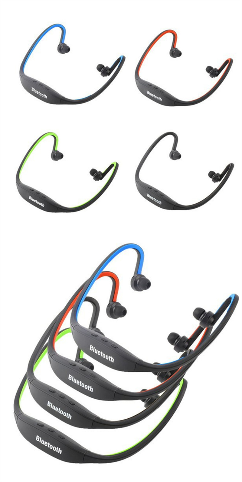 Factory Prices Christmas gifts bluetooth headset  headphone with hands free S9 bluetooth earphone