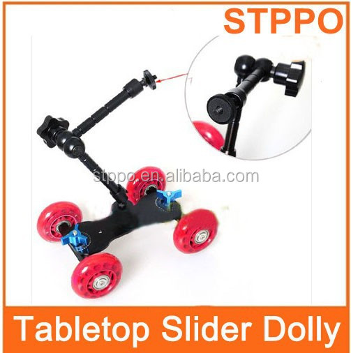 "4 Wheels Digital DSLR Slider Camera Wheel Dolly Slider +7"" Magic Arm"