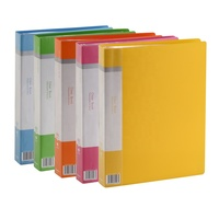 Comix Vividus Display Book A4 Size 10 20 30 40 60 Pockets PP Clear Book File Transparent Colored Plastic Folder