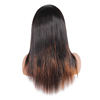 Very popular cheap brazilian human remy hair full lace wig with baby hair