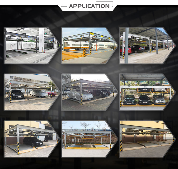 PSH advanced puzzle parking 2 level vertical transfering mechanical parking system puzzle parking