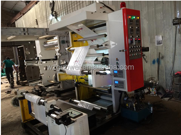 GW-B High Speed PE,OPP 2 Colors Flexo Printing Machine Manufacturer