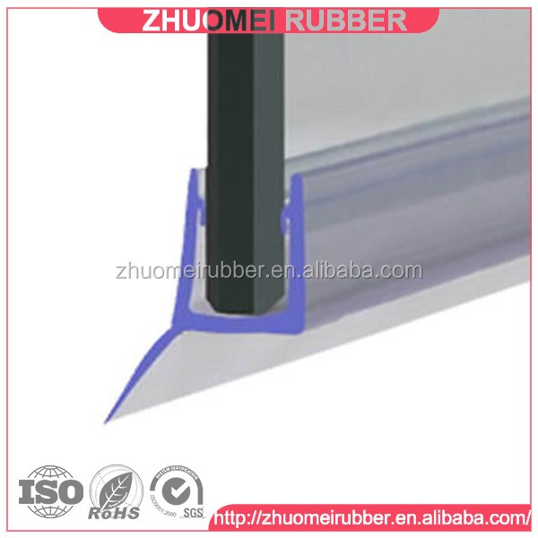 shower door sweep with drip rail