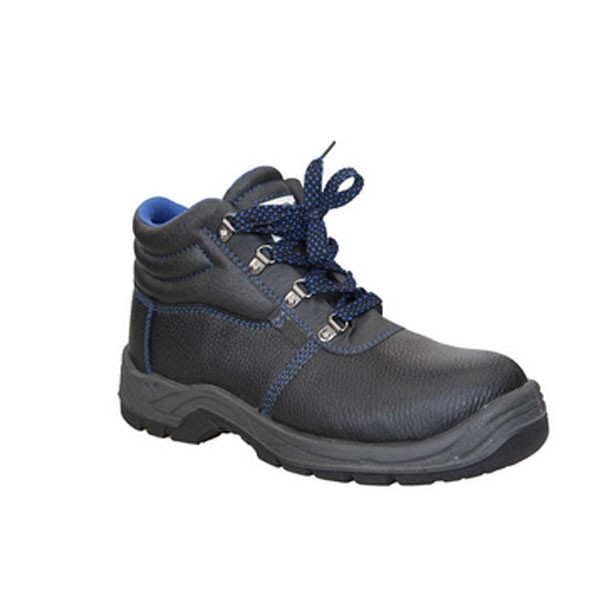 Men Stock Embossed Leather Safety Shoes