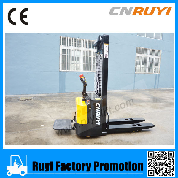 Cheapest Price 1000Kg-2000Kg Electric Pallet Stacker/Electric Stacker /Fantuzzi Reach Stacker