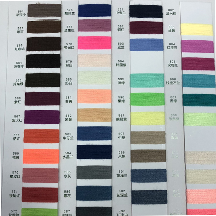 Factory Direct 32S/2 Colored Imitations 100% Polyester Fiber Cotton Sewing Yarn