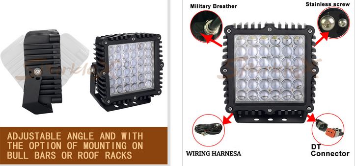New Product 32400 Lm, 9inch,360W portable work light Electrical System 50000 Hours for car, motorcycles, atv, utv,trucks