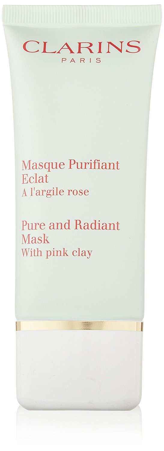Clarins Pure & Radiant Mask With Pink Clay, 1.7-Ounce Box