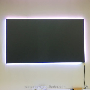 ScreenPro daylight projection thin fixed frame screen