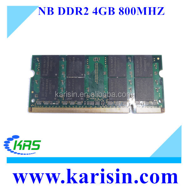 Notebook computer parts ddr2 4gb 800mhz ram price