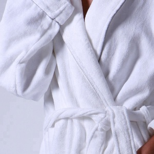 Salon Waffle Customized Logo Spa White Robes