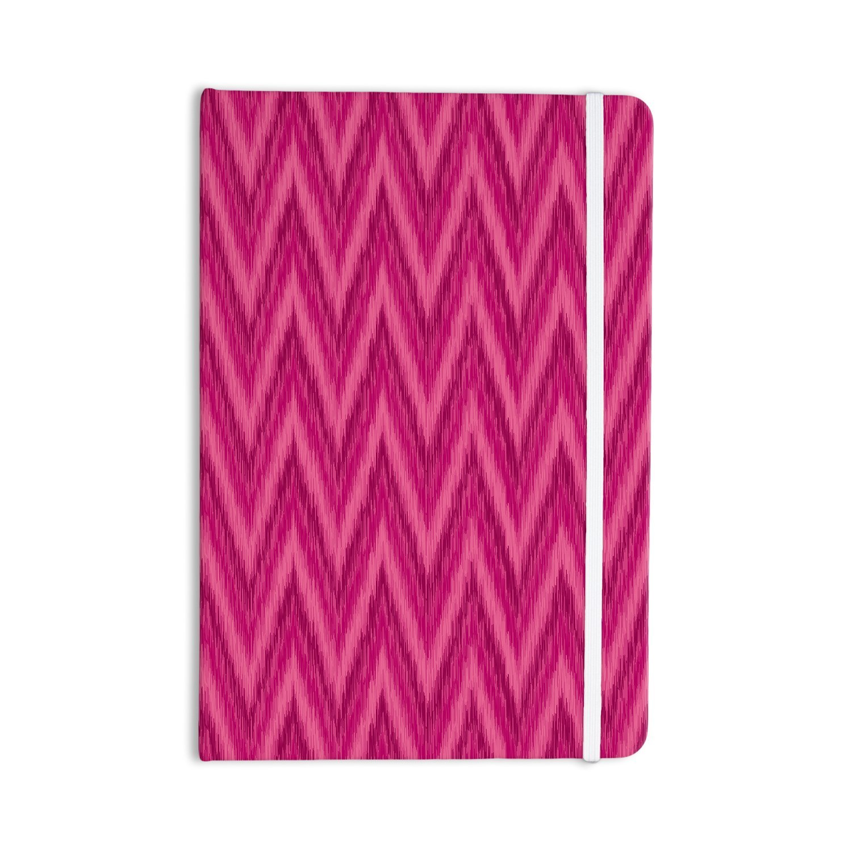 "KESS InHouse Journal Amanda Lane ""Berry Pink Chevron"" Everything Notebook, Magenta/Purple (AL1018ANP01)"