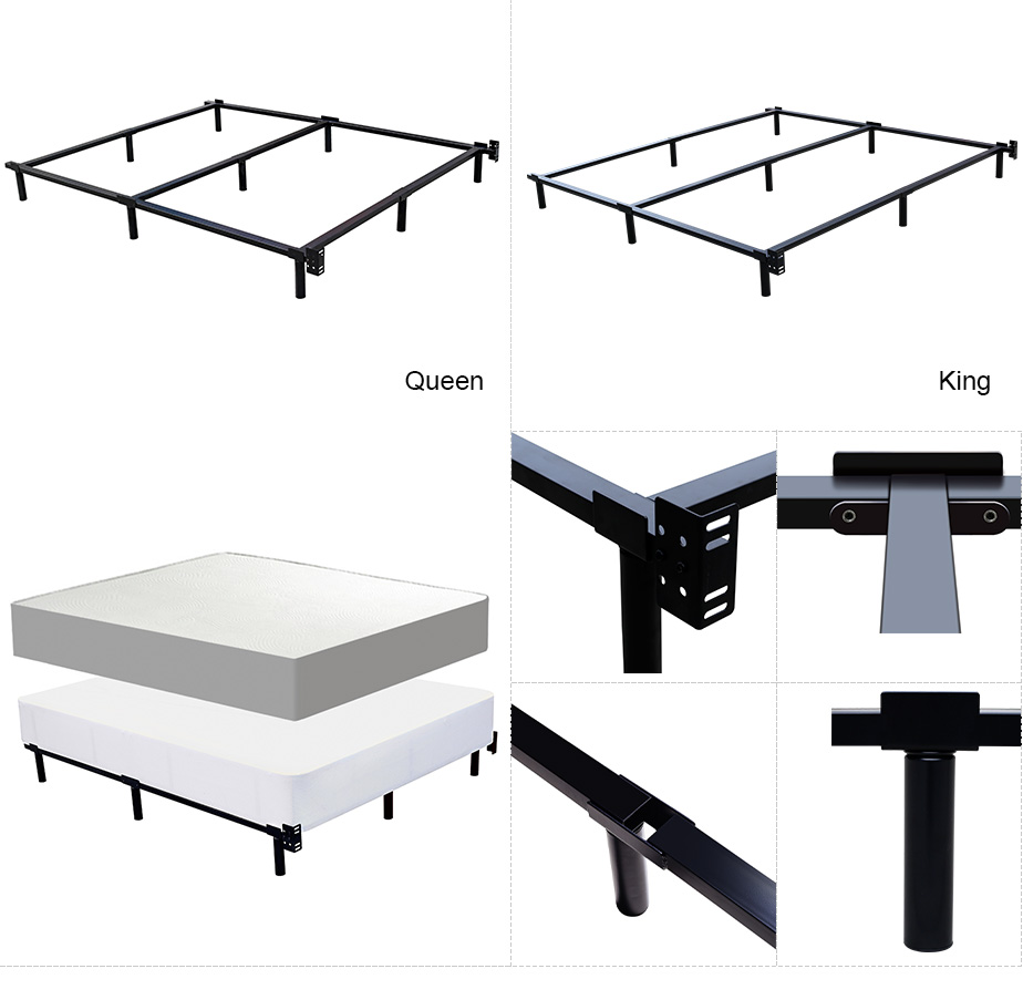 wrought iron retractable bed frame modern metal tube stainless steel adjustable bed frame