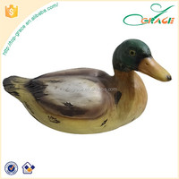 decor duck resin sculpt motion sensor duck