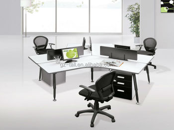 High Quality Wooden Stylish Office Desk For 3 Person