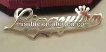 personalized name brooch jewelry,custom design name brooch,fashion alloy brooch jewelry