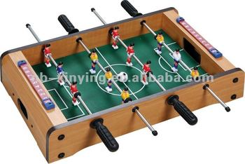 Wooden Foosball Game Table Of Size:34*22*7cm