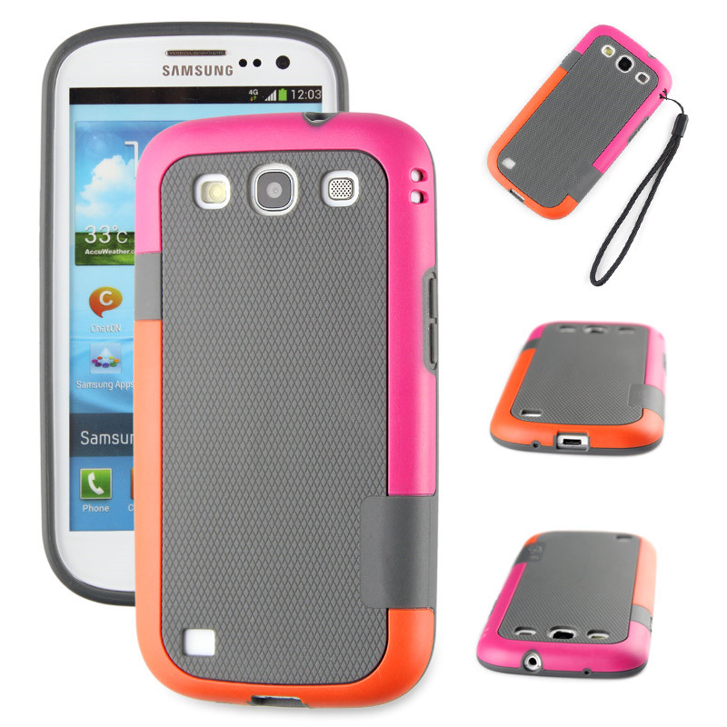 New Colorful TPU + PC Combo Hybrid Armor Cell Phone Case for Samsung Galaxy S3 i9300