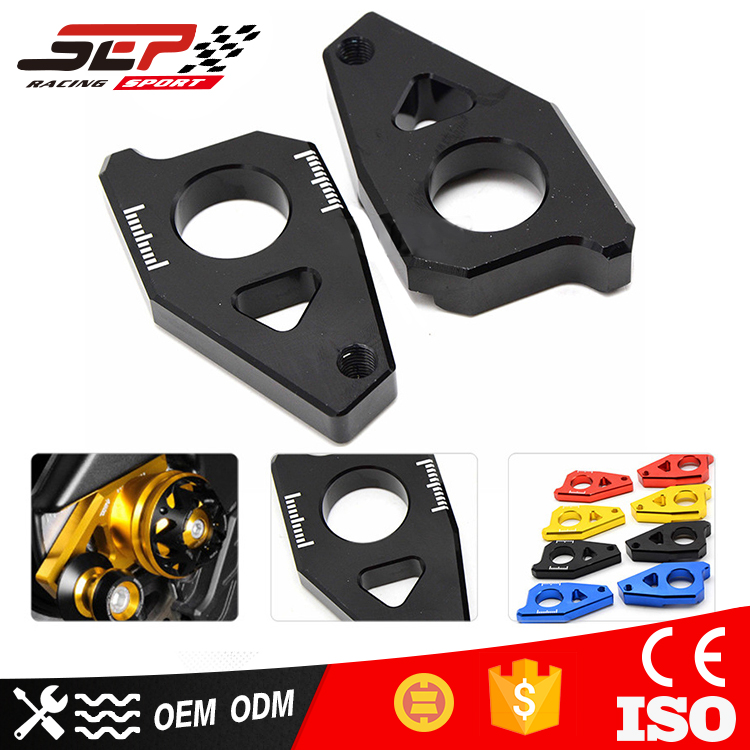 Motorcycle CNC Rear Axle Spindle Chain Adjuster Blocks for Yamaha TMAX 530 500