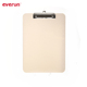 Practical cream color A4 clear clip board with scale