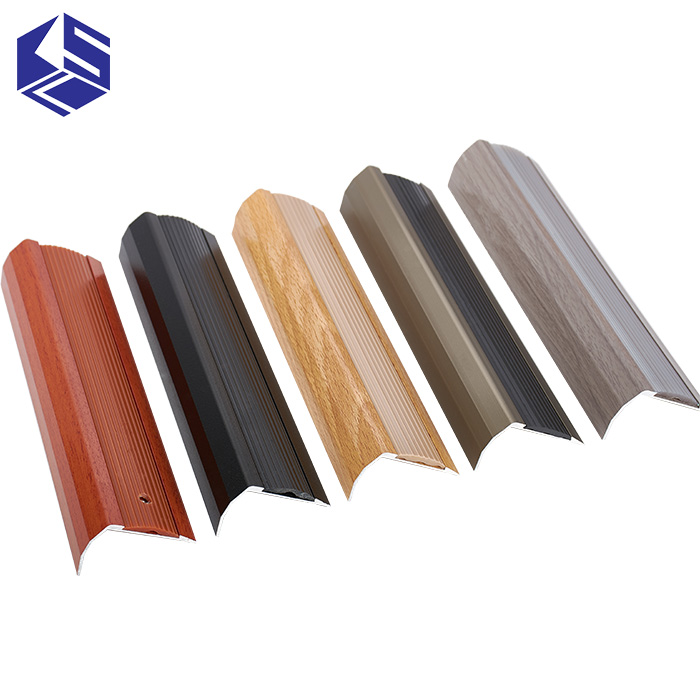 Distinctive Bullnose Rubber Insert Aluminum Stair Nose Metal Stair Nosing