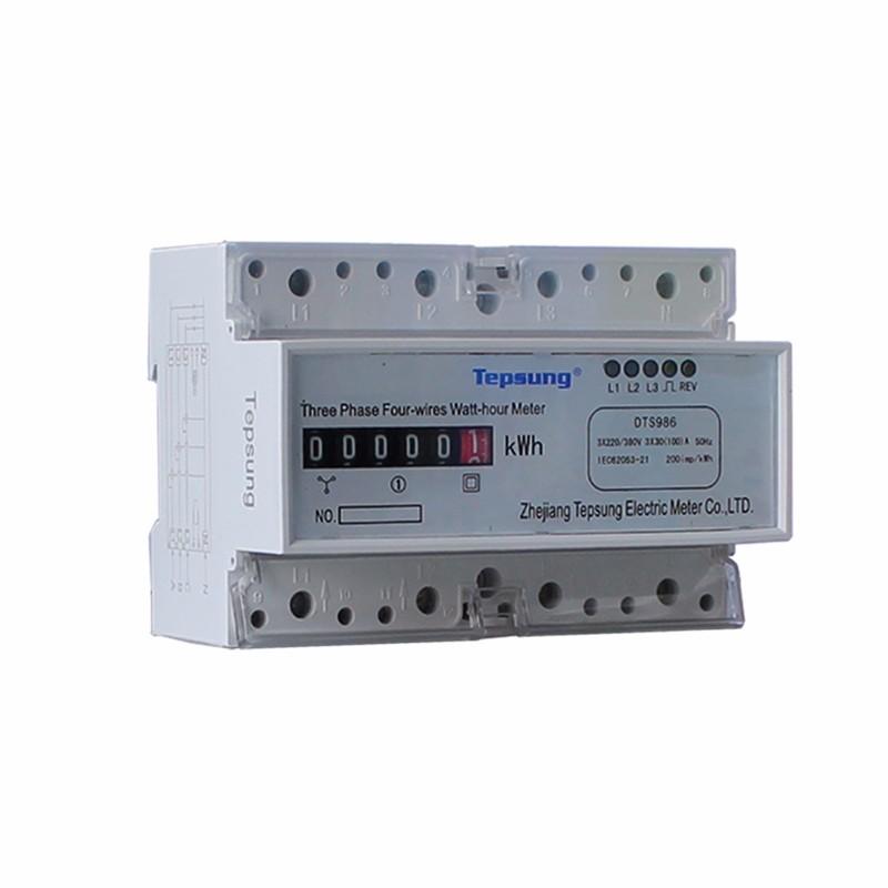 Lcd Digital Display Din Rail Three Phase Static Energy