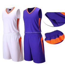 Latest basketball jersey design 2017 reversible basketball uniform custom cheap basketball wear