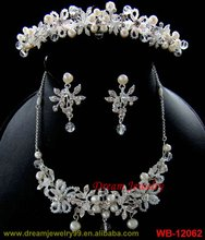 hot sale peacock jewellery handmade crystal new wedding three pcs accessories
