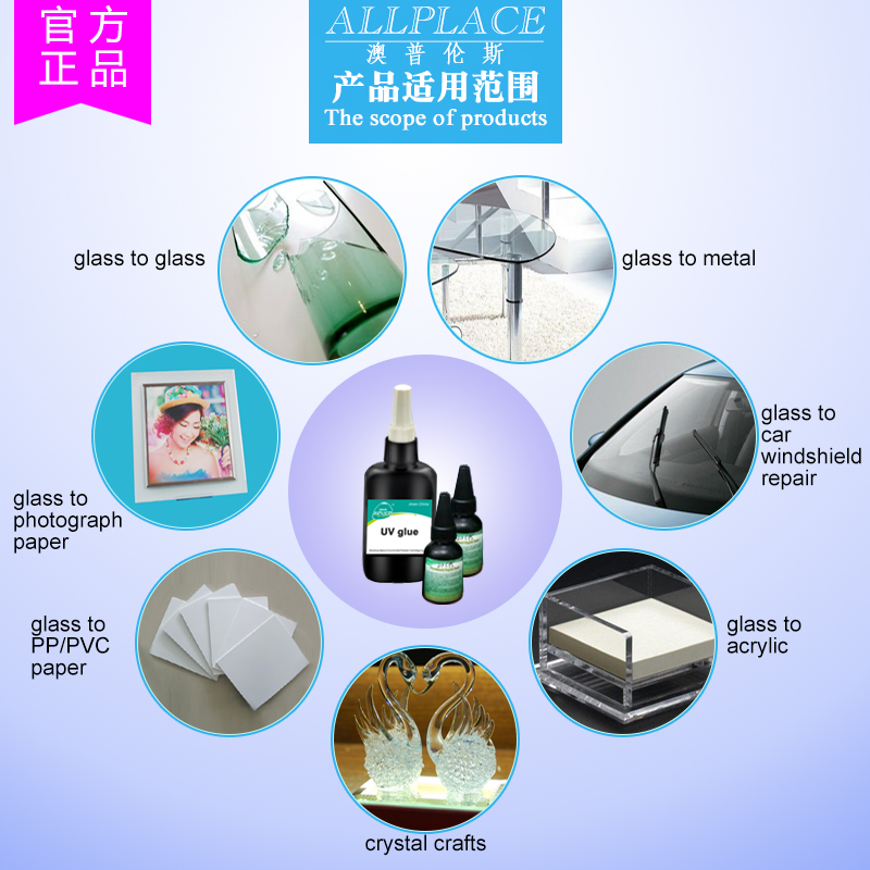 Customized UV glue for metal to glass Bonding and Sealing
