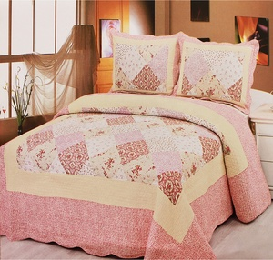 2016 latest beautiful design patchwork polyester flower printed bouti for home