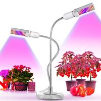 45W Dual Head Gooseneck Sunlike Full Spectrum Grow Lamp LED Grow Light for Indoor Plant Seedling Growing Blooming Fruiting