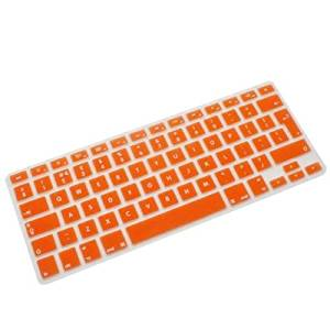 New Fashion Accessory Protector Silicone UK EU Keyboard Cover Skin For Macbook Air Pro Retina 13 15 17 Orange