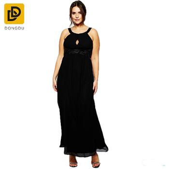 8b974e3026f XXX women pleated embellished maxi dress wholesale plus size women clothing