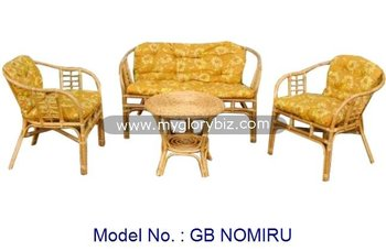 antique natural rattan wicker indoor sofa set with coffee table