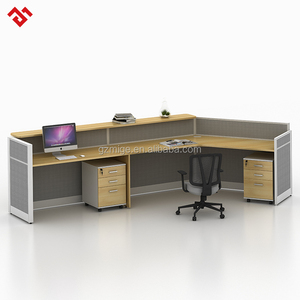 modern office reception desk design with partition
