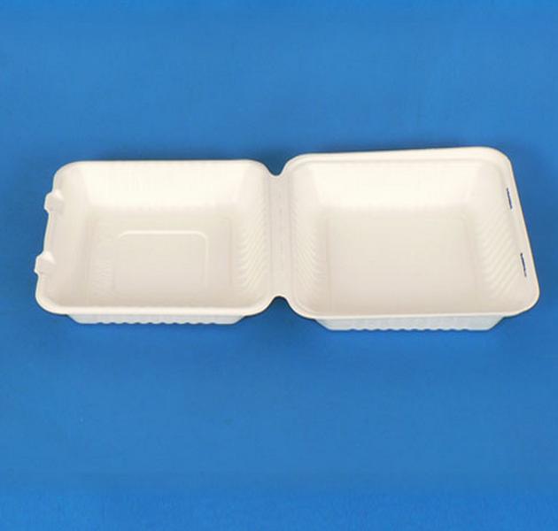 9 inch High Quality 100% Disposable Compostable Bagasse Sugarcane Take Away Food Packing Box