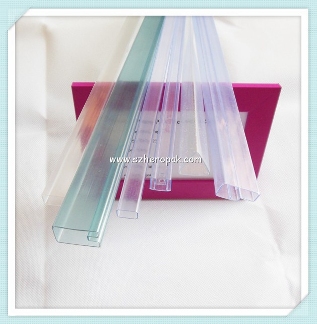 Transparent plastic tube for led striplight square plastic tube clear plastic rectangular tube