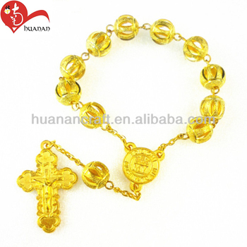 Wholesale alloy metal 10mm gold/silver color small round bead bracelet