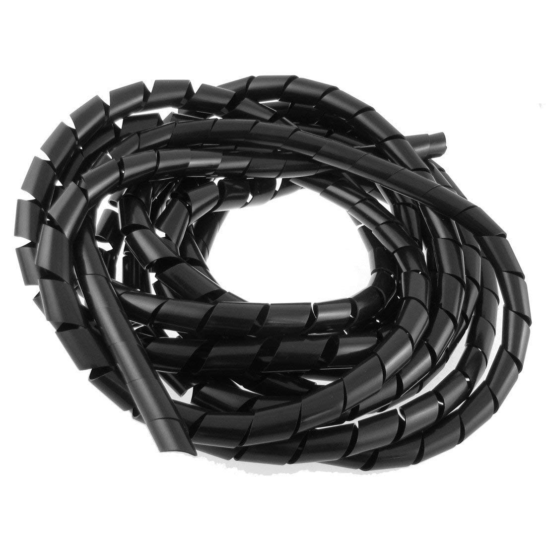 Spiral Wire Wrap Tube - SODIAL(R) 14mm Outside Dia 17 Ft Polyethylene Spiral Wire Wrap Cable