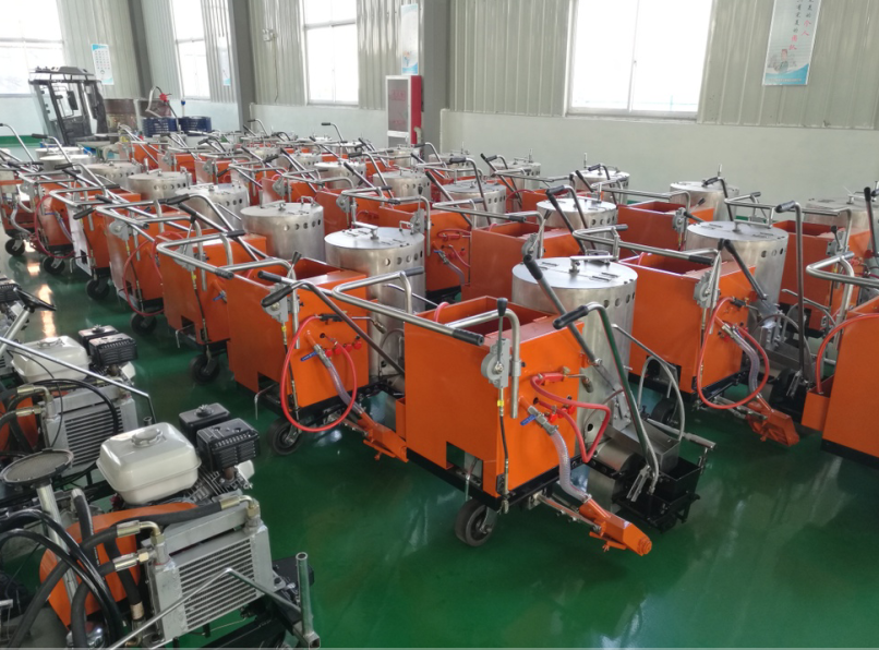 Automatic Road Line Marking Machine for Hot Melt Paint