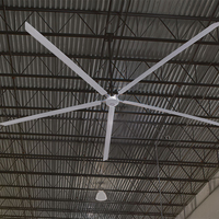 AC DC motor commercial quiet giant hvls ceiling big fan