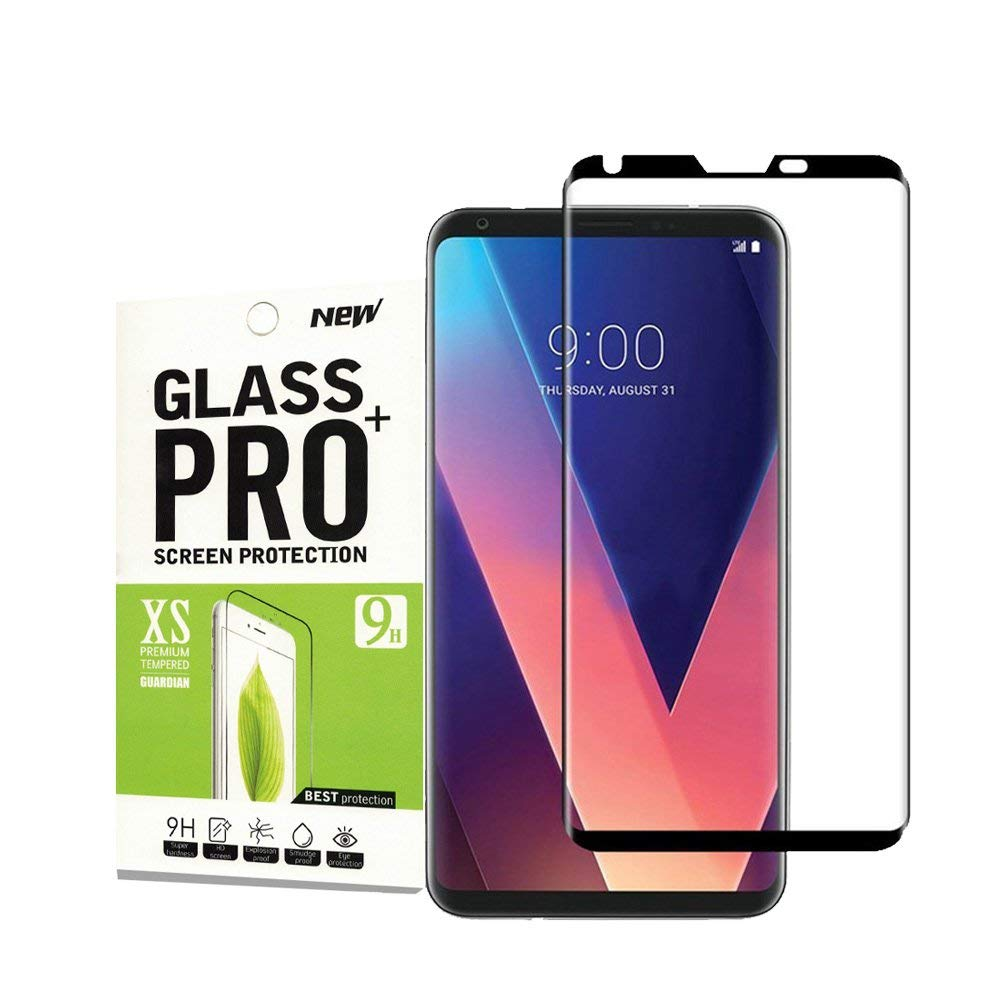 for LG V30 Tempered Glass Screen Protecto[Case Friendly], Abcalet [9H Hardness][HD Ultra Clear][Anti-Scratch][Bubble Free] Tempered Glass Screen Protector for LG V30