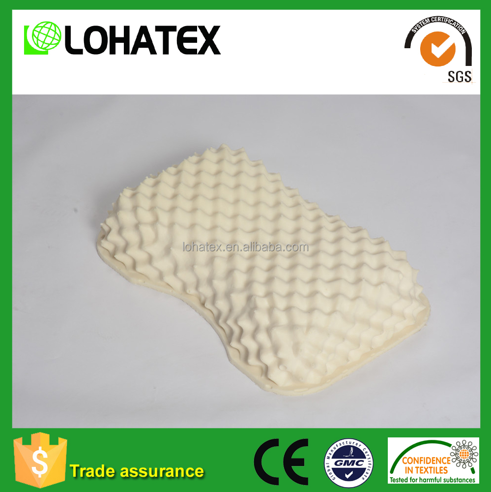 Excellent quality eco-friendly latex pillow muscle relief natrual latex foam pillow