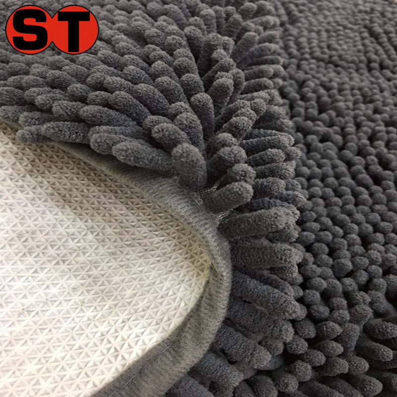 wholesale anti-slip microfiber chenille bath carpets/non-slip chenille door mat cat mat vetbed/chenille rug for pet mats