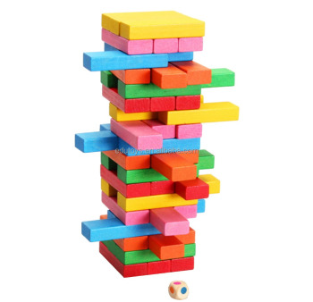 Goodkids Hottest 48 PCS DIY Stacking Wooden Tower Blocks Educational Toys For Kids EC055