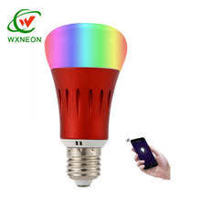 Pasokan Baru 7 W E27 <span class=keywords><strong>Wifi</strong></span> Smart Nirkabel Dimmable LED RGB Bohlam dengan Remote