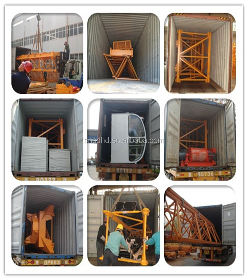 QTZ63 tower crane 6 ton for sale with CE/CCC/ISO9001 Certified