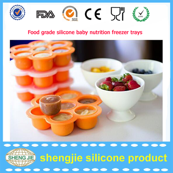 Usa Hot Selling Silicone Baby Food Container Tray Baby