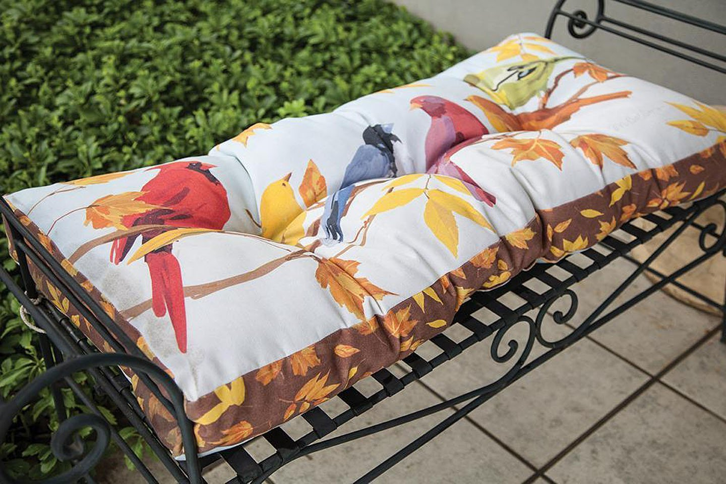 Picture of: Buy Bench Cushions Autumn Birds Garden Bench Cushion 42 X 17 Indoor Outdoor Seat Cushion In Cheap Price On Alibaba Com